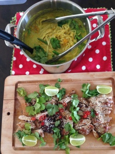 chicken and laksa