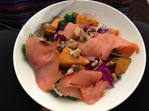 salmon walnut salad
